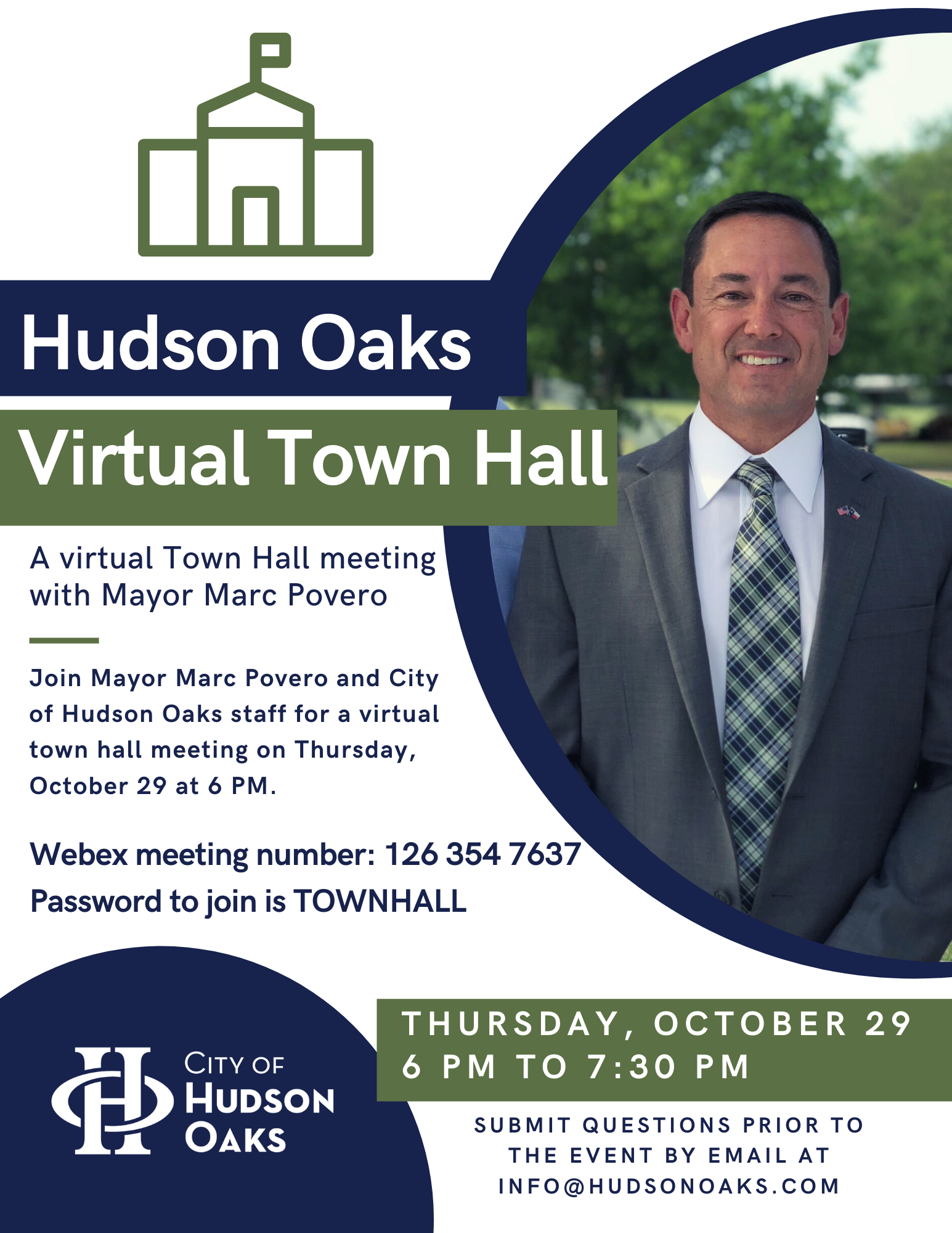 Topic: Hudson Oaks Town Hall meeting FLYER